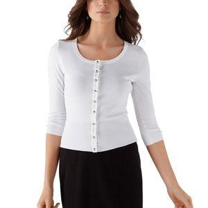 WHBM Minimalist Basic Cardigan Sweater XS